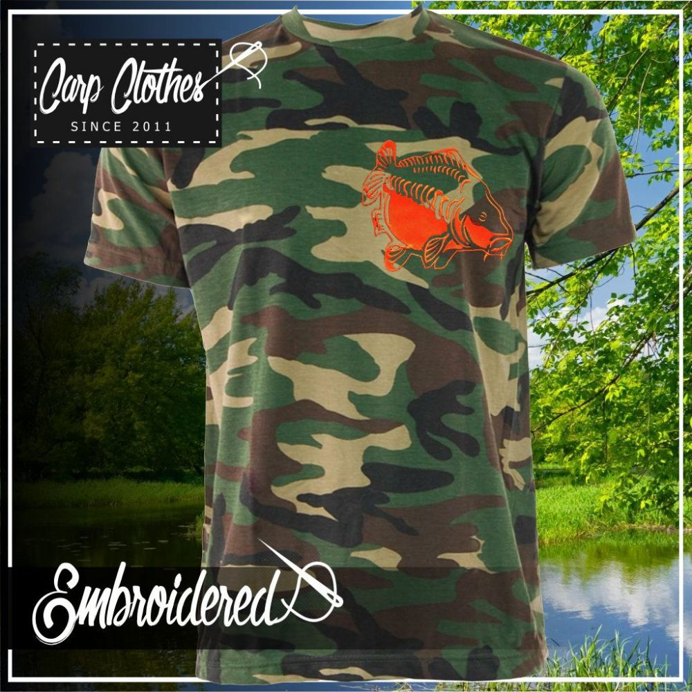 009 EMBROIDERED CAMO T SHIRT